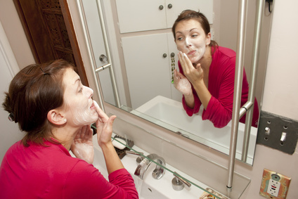 Proper facial cleansing