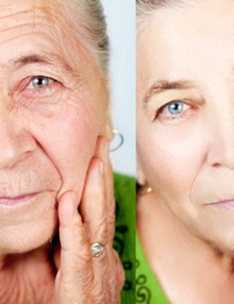 WOMAN- AGING CONCEPT -SKIN CARE AS YOU AGE